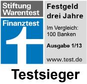 VTB direktbank Festgeld - Testsieger in Finanztest 1/2013