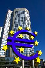 EZB Gebäude mit Euro-Zeichen