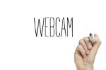 """Weißer Untergrund mit Aufschrift """"Webcam"""""""
